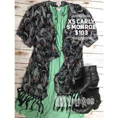 """19 Likes, 3 Comments - lularoejentaylor UT (@lularoejentaylor) on Instagram: """"This outfit is meant for Spring! Today's Gorgeous #ootd a Mint Green #lularoecarly and black…"""""""