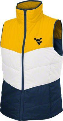 West Virginia Mountaineers Women's Navy Columbia Triple Option Reversible Vest