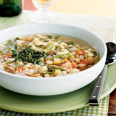 Vegetarian Soups and Stews | Vegetable Soup with Pistou | CookingLight.com