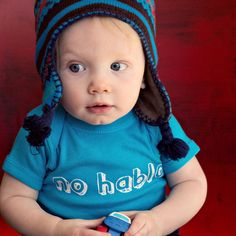 Hey, I found this really awesome Etsy listing at https://www.etsy.com/listing/126644713/no-hablo-graphic-baby-bodysuit-by