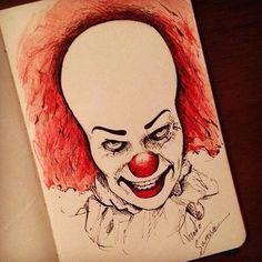 IT  Oque usei? -Caneta Bic -Lápis de cor vermelho -Sketchbook