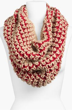 BP. Two Tone Chunky Knit Circle Scarf | Nordstrom  I really like the yellow/grey and pink/grey on the website!