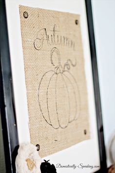Autumn Burlap Pumpkin - SO CUTE and a perfect addition to your fall decor