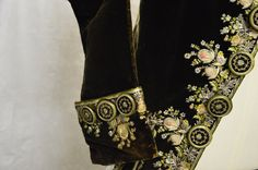 Eighteenth century silk embroidered court coat. Collection: Royal Pump Room/Harrogate Museums.
