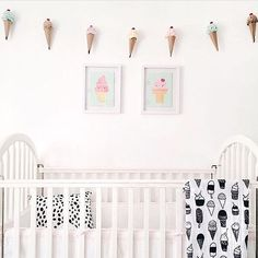 I scream, you scream, we all scream for an ice cream themed nursery. So perfect for National Ice Cream Day! Thanks for sharing @jeremagz