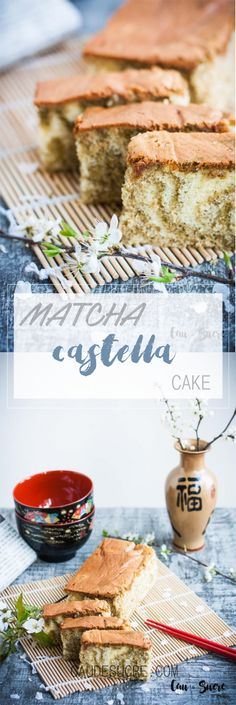 This cake has such a special texture that it will not leave you indifferent. It is well known that the Japanese have spectacular recipes for soft, fluffy and light sponge cakes. This is another one of them, but especially moist and with the Matcha tea taste that gives a spectacular touch. A perfect treat to eat with an afternoon tea.