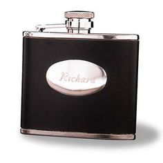 Stainless Steel Leather Flask
