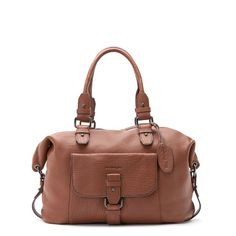 Shopping taille M Steeve Marron Cuir d'Agneau