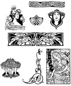 """from Dover's """"Art Nouveau Motifs  Clip Art"""""""