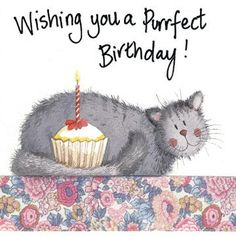 happy birthday cat card pussy and cake themed so unique completing simple elegant stunning model looked so sweet also classic Happy Birthday Art, Happy Birthday Pictures, Birthday Love, Happy Birthday Greetings, Animal Birthday, Birthday Greeting Cards, Birthday Blessings, Birthday Messages, Birthday Wishes