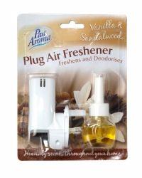 PAN AROMA PLUG AIR FRESHENER VANILLA & SANDALWOOD Air Freshener, Health And Beauty, Plugs, Vanilla, Household, Fragrance, Stuff To Buy, Buttons, Perfume