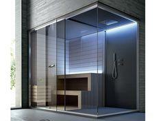 Home Spa Room, Spa Rooms, Sauna Steam Room, Sauna Room, Saunas, Mini Sauna, Sauna Hammam, Small Spa, Sauna Design
