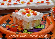 Mommy's Kitchen - Home Cooking & Family Friendly Recipes: Candy Corn Jell-O Poke Cake#more