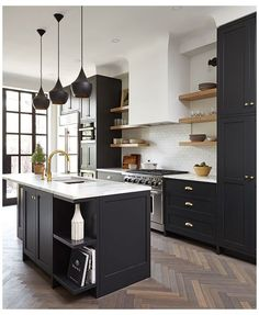 Kitchen Flooring, Kitchen Furniture, Kitchen Interior, New Kitchen, Kitchen Ideas, Awesome Kitchen, Kitchen Modern, Kitchen Colors, Modern Farmhouse