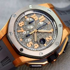 Audemars Piguet LeBron James Edition. Perfect Shot of this Heavyweight Titanium and RoseGold with Grey Strap. This Beauty is limited to 600 pieces. How do you like this watch??? I guess @kingjames loves it?!?