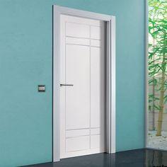 "The beautiful prefinished San Rafael Lacada 940 FD30 Fire Door with ""D"" groove designs. #directdoors"