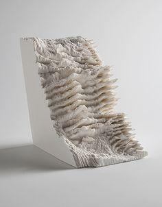 "Noriko Ambe, Japan, ""A Piece of Flat Flobe Vol.23"", 2011, Cut on Yupo (synetic paper), glue, 15(h) x 11(w) x 15(d) cm"