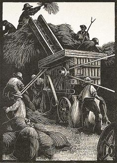 Clare Leighton. Threshing.