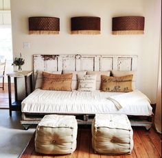 Love the pillows & Old Door