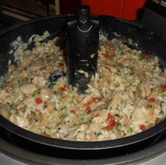Risotto au poulet & champignons à l'actifry