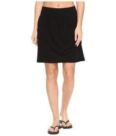 Royal Robbins Essential Tencel Pocket Skirt (Jet Black) Women's Skirt