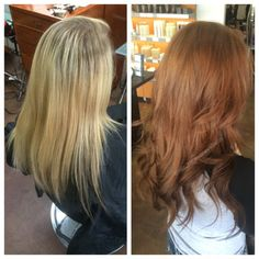 Blonde to brown
