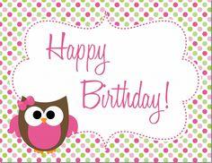 Owl Birthday Party : Free Printables