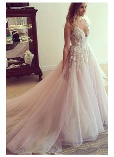 Ball gowns wedding - Princess Wedding Dresses, Pink Wedding Dreses, Ball Gown Wedding Dress, Long Wedding Dress of Prom Dress with Appliques, Vneck Wedding Gown – Ball gowns wedding Wedding Robe, Pink Wedding Gowns, V Neck Wedding Dress, Long Wedding Dresses, Princess Wedding Dresses, Tulle Wedding, Bridal Dresses, Dream Wedding, Modest Wedding