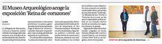 """La Voz de Almería (14/12/2013), inauguración de la exposición pictórica """"La reina de corazones"""" por la reconocida artista Almeríane"""