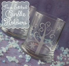 Burton Avenue: Faux Etched Candle Holders