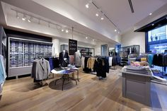 Trenery Highpoint - White Smoked timber flooring by Harper & Sandilands Royal Oak Floors, Timber Flooring, Commercial Design, Retail Design, Light Colors, Interior Architecture, Smoke, Display, Modern