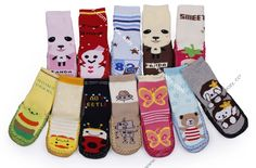 Unisex Cartoon Baby Toddler non slip Warm Socks Slipper Shoes Boots 6-24 Month
