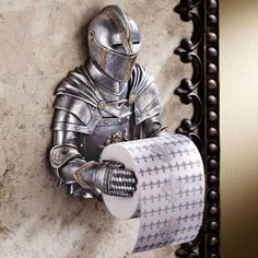 Medieval TP Holder! HAHA that's awesome!