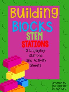 Using building blocks and bricks can be so engaging! Especially when you find ways to create STEM stations that help your students review force and motion!This pack includes 6 stations:-catapult station-vehicle station-roller coaster station-marble maze station-bridge building station-zip line stationThis pack includes directions, station cards for all six stations as well as record sheets in to different ability levels,  and materials lists/cards.
