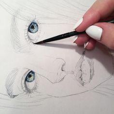 ребят, мне важно знать, интересно вам знать что-то обо мне? провести прямой эфир с рисованием или ответами на вопросы? ✨  .  .  .  .  #акварель #портрет #скетчбук #скетчинг #скетч #набросок #наброски #искусство #творчество #рисование #рисую #живопись #watercolor #sketchbook #sketch #sketching #wip #workinprogress #eyes #howtodraw #tutorial
