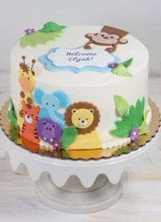 30 Baby Dusche Kuchen Ideen 2019 30 Baby Dusche Kuchen Ideen The post 30 Baby Dusche Kuchen Ideen 2019 appeared first on Baby Shower Diy. Jungle Birthday Cakes, Animal Birthday Cakes, Birthday Sheet Cakes, Jungle Cake, Baby Birthday Cakes, Cake Baby, Birthday Parties, Baby Shower Cake Sayings, Safari Baby Shower Cake
