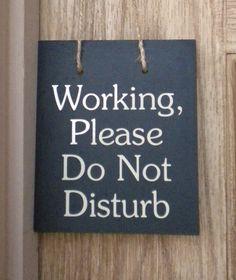 printable polite do not disturb sign creative business