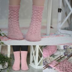 Vanillawool by IINU: ilmaisohjeet Lace Socks, Crochet Socks, Knitting Socks, Knit Crochet, Knitting Patterns Free, Free Knitting, Free Pattern, Knitting Ideas, Leg Warmers