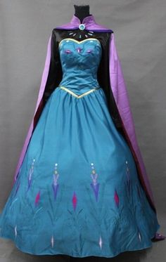 Disney Frozen Elsa Coronate Dress Made Cosplay Costume For Adult and Children @Kaitlyn Vesely