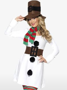 Find Mrs Claus costumes, elves, angels and novelty outfits to help you spread a little festive cheer. Dress Up Costumes, Adult Costumes, Costumes For Women, Costume Ideas, Snowman Costume, Christmas Fancy Dress, Fun At Work, Spirit, Halloween