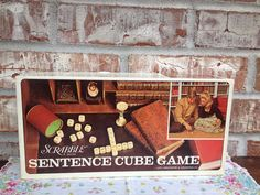 Vintage Scrabble Sentence Cube Game - 1971 FUN Family classic on Etsy, $8.95