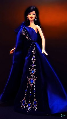 Customized 'Sapphire Splendor' Barbie
