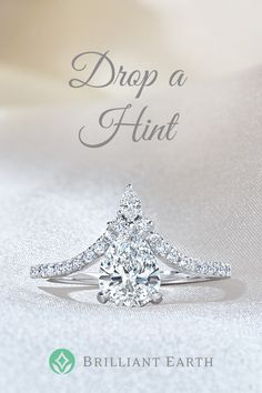 """Tell your special someone what's on your wish list. Click """"Drop a Hint"""" on any item and we'll send them a hint (so you don't have to)."""