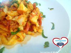 Ricetta #Mugnaia di #Elice al #sugo di #baccalà del blog 'LA CUCINA DI MOLLY' (http://lacucinadimolly.blogspot.it/) #cirio #passionefoodblogger #pomodoro #pomodori #tomato #PullUpAChair