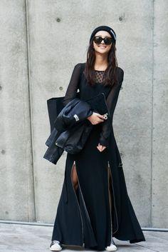 Street style: Park Ji Soo at Seoul Fashion Week Spring 2015