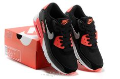 new concept 7be2d 405ea 2014 New Nike Air Max 90 Womens Shoes Black Orange Red Womens Clothes,  Style Clothes