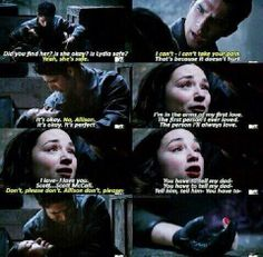 "S3 Ep23 ""Insatiable"" - Allison die in Scott arm and her first love."