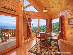 Pigeon Forge Cabin - Heavenly High - 1 Bedroom - Sleeps 6 - Jacuzzi - Swimming Pool Access - Sauna