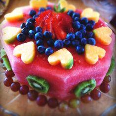 Co healthy birthday cakes, fruit birthday cake, healthy cake, wa. Healthy Birthday Cakes, Fruit Birthday Cake, Healthy Cake, Watermelon Birthday, Blueberry Birthday Cake Recipe, Brithday Cake, Healthy Yogurt, Healthy Deserts, Vegan Snacks