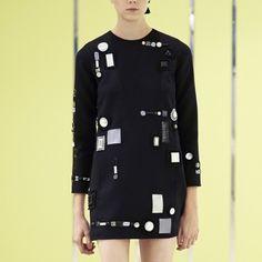 Marc Jacobs Resort 2016 Longsleeve Embroidered Shift Dress